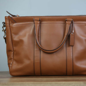 Coach Metropolitan NWOT Briefcase leather brown